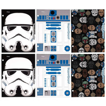 Folders Star Wars Especiales P/ Carpetas De 3 Anillos 6 Pack