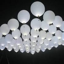 50 Globos Led Color Blanco ,velas,hielos Led,boda,fiesta,vv4
