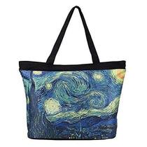 Bolsa Galería Van Gogh Noche Estrellada Womens Cotton Tote