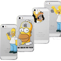 Funda Case Homero Simpsons Iphone 4 4s 5 5s 5c 6 6 Plus Mica