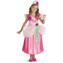 Disfraz Vestido Niña Princesa De Las Flores Rosa Talla 7/8