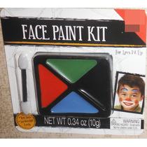 Maquillaje Pintura Cuerpo Cara Mascara Terror Halloween E4f