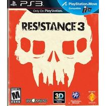 Ps3 Resistance 3 Ps Move (aceptamos Mercado Pago Y Oxxo)