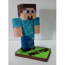 Steve Minecraft Centro De Mesa, Foami, Fofuchas