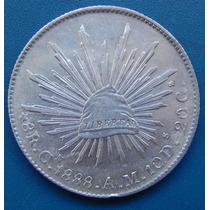Moneda 8 Reales Culiacan 1888 Am Condicion