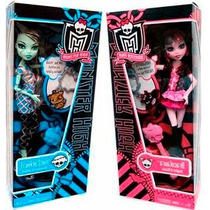 Monster High Caty Noirmonster High Draculaura Y Frankie