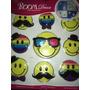 Decoracion 9 Emoji Emoticon Removibles Pared 2d Stickers