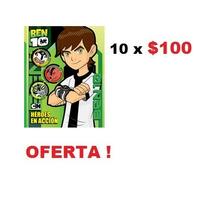 Paquete De 10 Libros Para Colorear Fiesta Piñata Ben 10