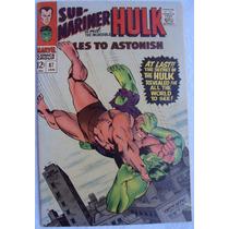 Tales To Astonish 87 (marvel Comics 1967) Hulk No Spiderman.