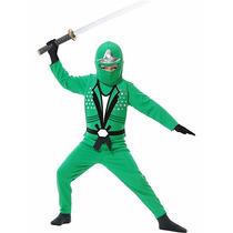 Disfraz Ninjago Verde Lloyd 6/8 Años Entrega Inmediata