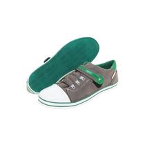 Tenis Zapatos Perry Ellis America Hombre Gris De Piel Num 7