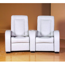 Sillones Reclinables Home Theater Piel Jaymar 59219 Blanco