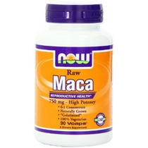 Now Foods Raw Maca 750mg 6: 1 90 Vcaps