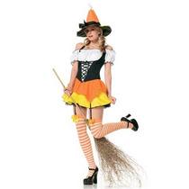 Disfraz Mujer Bruja Sexy Halloween Adulto Brujita