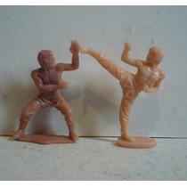 Bruce Lee Y Chuck Norris - Figura D Plastico Juguete Bootleg