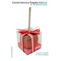 6 Cajas Para Manzanas,caja De Acetato 8x8x8 Cm