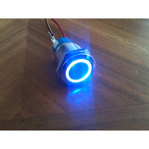 Botón Pulsador Tipo Interruptor Arillo Iluminado D19mm