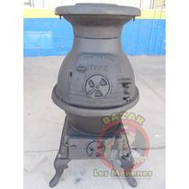 Calentador De Leña Tipo Robot De Fierro Fundido / Calefactor
