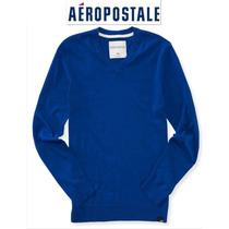 Envio Sueter M Aeropostale Azul Marino Mediano 100% Algodon