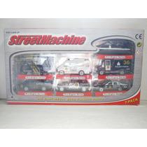 Street Machine 7 Pack De Policias 1:64 Aprox