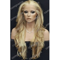 Peluca Super Natural Extra Larga Color Rubia Ydestellos, Daa