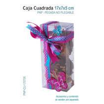 06 Cajas De Acetato Para Galletas,chocolate,dulces,recuerdos