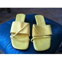 Sandalias Amarillas Italianas Talla 4