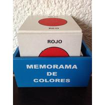 Juego Didáctico De Madera Memorama De Colores