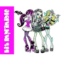 Kit Imprimible Invitaciones De Monster High Editables Cumple
