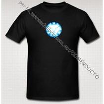 Playera Iron Man Tony Stark Reactor Arc Version 2 Triangulo