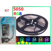 Tira De 300 Leds Rgb 5050 Kit Sistema Audiorrítmico