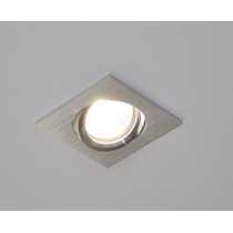 Lampara Led 4w Empotrable Cuadrada Mr16 Gu5.3 Minimalista