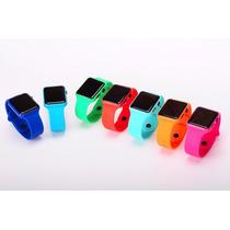 Paquete 10 Relojes Cuadrado Espejo Digital Led Touch Colores