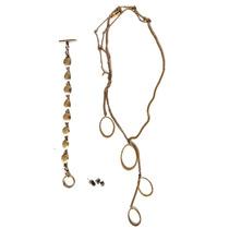 Oferta Exclusivo Set Collar, Pulsera Y Aretes Kenneth Cole