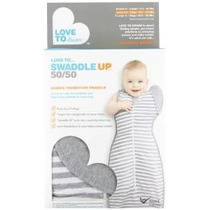 Amor Para Soñar Swaddle Up- 50 / 50- Gray Stripe- Grandes 18