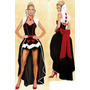 Disfraz Reina Roja Corazones Con Bolero Halloween