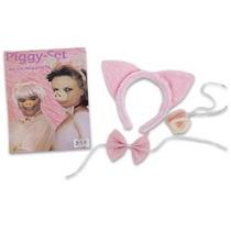 Piggy Costume Set-incluye Nariz De Cerdo Del Oído Y Pajarita