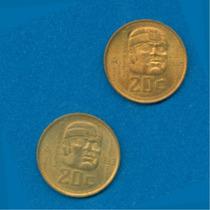 20 Centavos Cultura Olmeca 1983 Y 1984 (años De Acuñamiento)