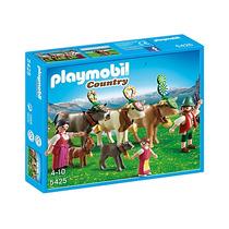 Playmobil 5425. Vacas Alpinas Con Pastores. Playmotiendita