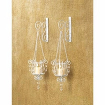 Candelabro Bedazzling Pendant Candle Holder Wall Sconce Deco