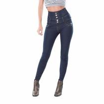 Jeans Pretina Ancha Cintura Alta Seven Eleven Skinny Envío G