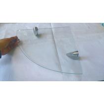 Repisa De Cristal Rectas 15x80 Y En Esquina De 25x25
