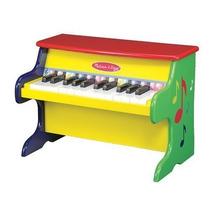Teclado Musical Piano Mediano Juguete Niños Colores Madera
