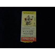 Tigres Temporada 1966 Baseball Boleto