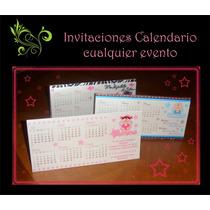 Invitaciones Tipo Calendario... Para Cualquier Evento...