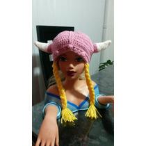 Gorro A Crochet Vikingo Niña