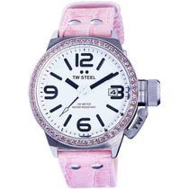 Reloj Tw Steel Ceo Canteen Swarovski Rosa Blanco Tw36