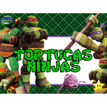 Kit Imprimible Tortugas Ninja Diseñá Tarjetas Y Candy Bar