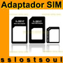 Adaptador Nano Micro Sim Kit 4 En 1 Nuevo Envío Express