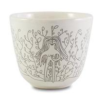 Taza De Ceramica Decorada Hecho En México Blanca Eva Ilustra